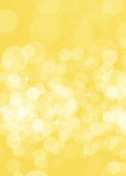 Yellow blurred background for birthday card Stock Image
