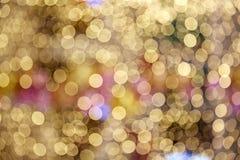 Blinking blurring bokeh lights stock image