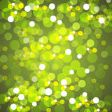 Yellow Blurred Lights Background Stock Photos