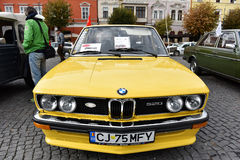 Yellow BMW vintage car Stock Photography