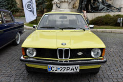 Yellow BMW vintage car from Germany Stock Photography