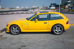 Yellow BMW Z3 M Coupe car Stock Photos