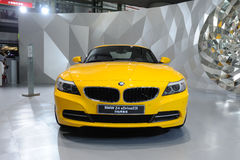 Yellow BMW Z4 sDrive23i Royalty Free Stock Image