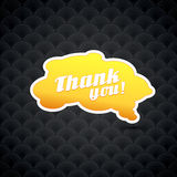 Yellow board with thank you sign. Royalty Free Stock Photo