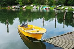 Free Yellow Boat Stock Image - 22288671