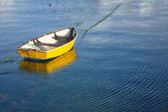 A yellow boat. Royalty Free Stock Images