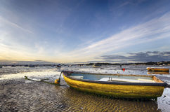 Yellow Boat on Beach Royalty Free Stock Image