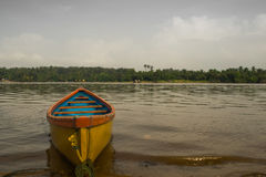 Yellow boat in Mangalore Stock Image
