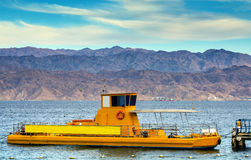 Yellow boat in the Red sea, Eilat Royalty Free Stock Photo