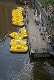 Yellow boats Royalty Free Stock Images