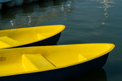 The yellow boats Stock Photo
