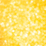 Yellow bokeh. Yellow holiday bokeh. Christmas background Royalty Free Stock Photo