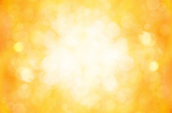Yellow bokeh abstract background. Stock Photography