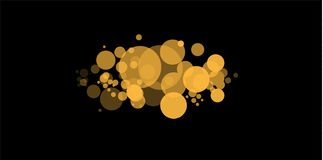 Yellow bokeh. The abstract of circle light bokeh background. Golden Lights Background. Christmas Lights Concept. Vector vector illustration