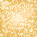 Yellow bokeh background. With light circles Stock Image