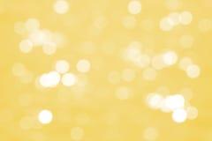 Yellow bokeh background Stock Image