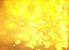 Yellow Bokeh Background Light Effect For Your Design Royalty Free Stock Photo