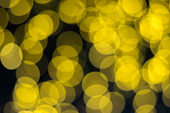 Yellow bokeh for background. Yellow bokeh background and texture Royalty Free Stock Image