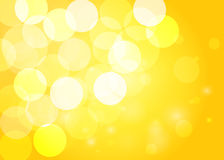Yellow bokeh background. Vector Royalty Free Stock Image