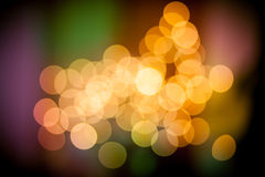 Yellow bokeh balls Royalty Free Stock Photography