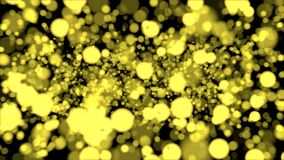 Yellow bokeh on black background. Graphic illustration. Abstract illustration with bokeh effect Royalty Free Stock Image