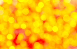 Yellow bokeh colorful background Royalty Free Stock Photos