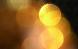 Yellow bokeh ,  lights, abstract color background Royalty Free Stock Photography