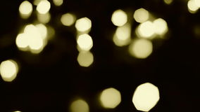 Yellow bokeh lights Stock Photo