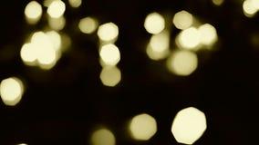 Yellow bokeh lights Stock Photo