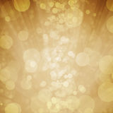 Yellow bokeh with star, moon,light background Royalty Free Stock Photos