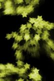 Yellow Bokeh Stars Royalty Free Stock Photos