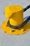 Yellow Bollard Stock Images