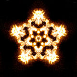 Yellow bonfire kaleidoscope Stock Image