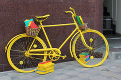 Yellow book bicycle Royalty Free Stock Photos