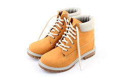 Yellow boots. A nice pair of yellow boots Royalty Free Stock Photo