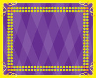 Yellow Border Frame with Purple Background Royalty Free Stock Photo