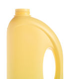 Yellow bottle of domestic cleaner Royalty Free Stock Photography
