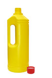 Yellow bottle red top Stock Images