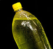 Yellow bottle with soda Stock Image