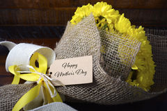 Yellow Bouquet of Chrysanthemums. Royalty Free Stock Photos