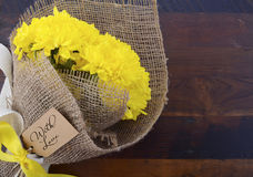Yellow Bouquet of Chrysanthemums. Stock Images