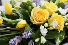 Yellow bouquet, closeup Stock Photo