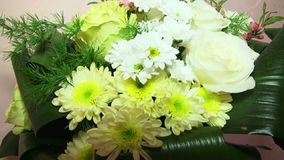Yellow Bouquets stock video footage