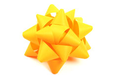 Yellow bow. Royalty Free Stock Photography