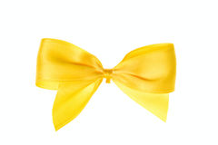 Yellow bow Royalty Free Stock Photo