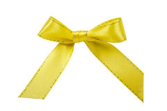 Yellow bow Stock Photos
