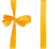 Yellow bow Stock Image