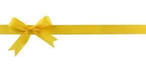 Yellow bow Royalty Free Stock Photos
