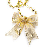 Yellow bow beads Royalty Free Stock Image