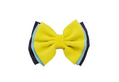 Yellow bow,Hair clip Stock Photography